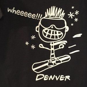 Wheee, Snowboarder, Denver, Youth S/S Tee, NWT